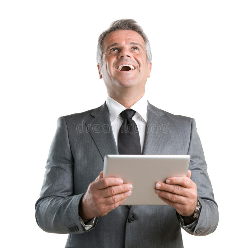 Modern tablet success royalty free stock photography