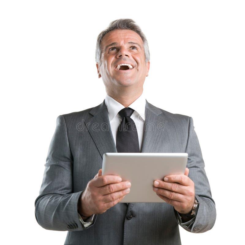 Modern tabletframgång royaltyfri fotografi