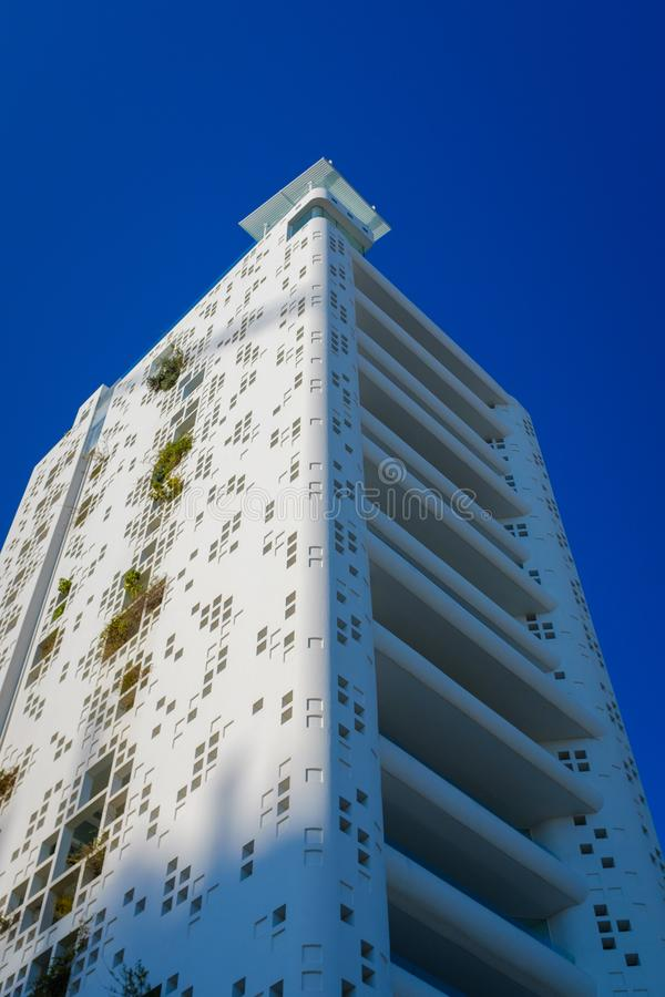 Modern apartment building in Nicosia. Modern tall apartment building in downtown Nicosia, Cyprus stock photography
