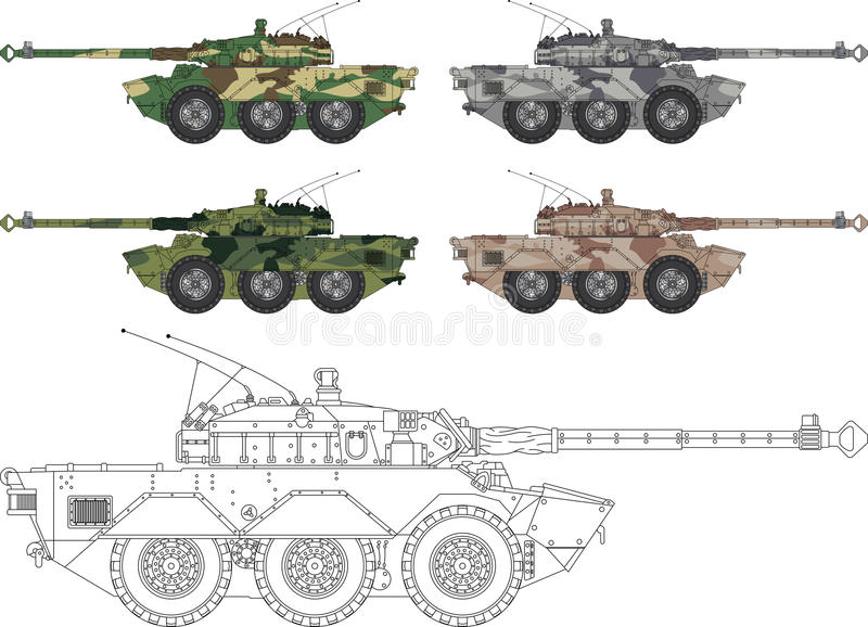 Download Modern tank stock vector. Image of pallet, camouflage - 25386273