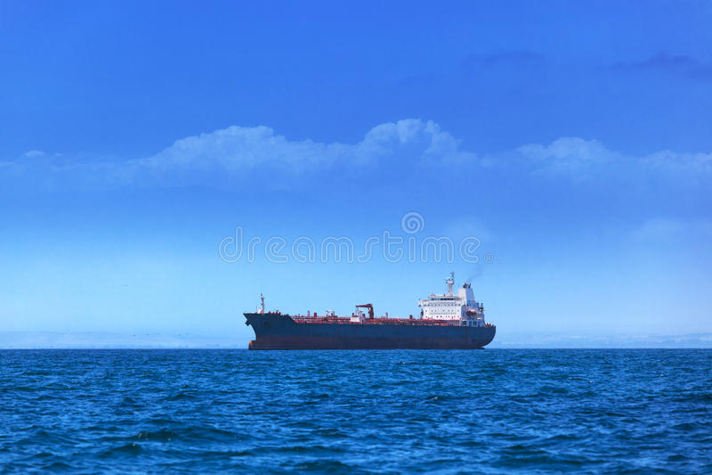 Modern tankfartyg fotografering för bildbyråer