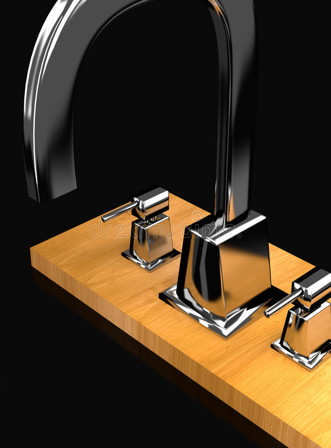 Modern tap on the wood