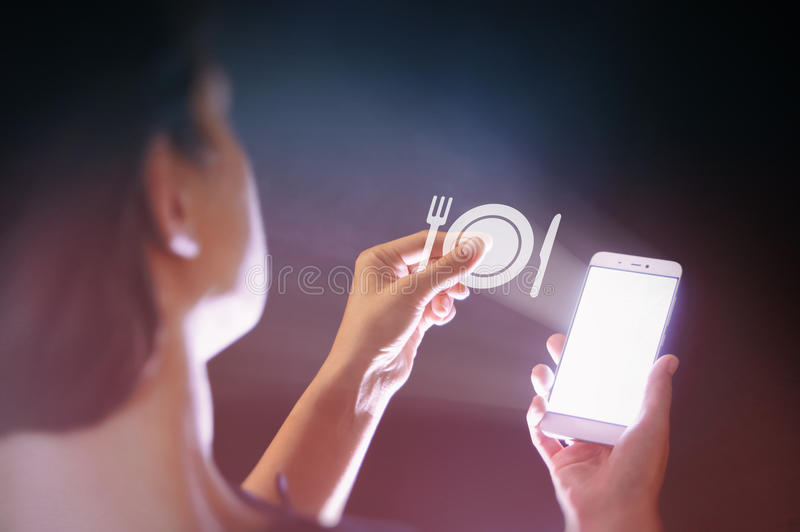 Modern technologies in the food industry stock photos