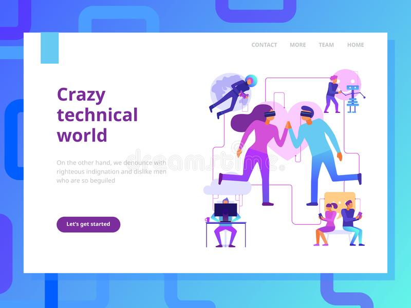 Modern Technologies Page Design vector illustration