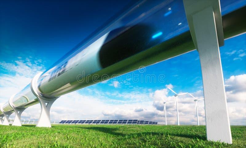 Modern technologies in transport and energy. stock illustration