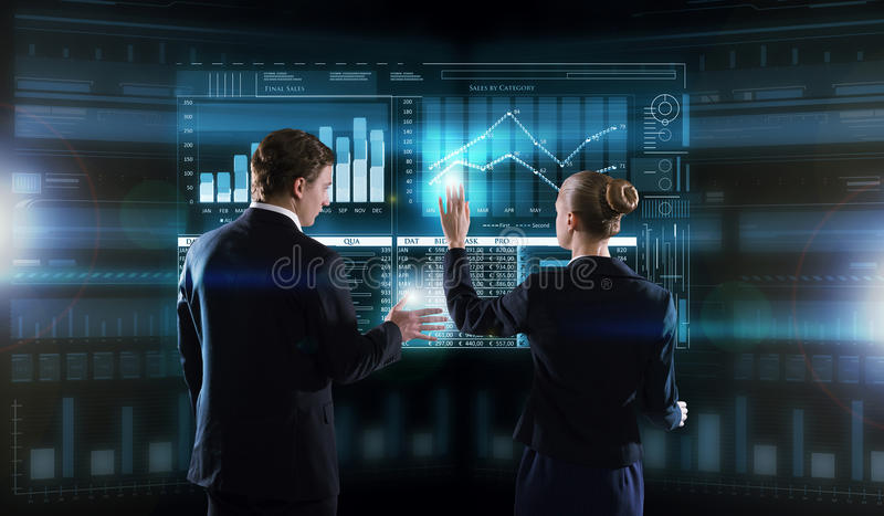 Modern technologies in use royalty free stock image