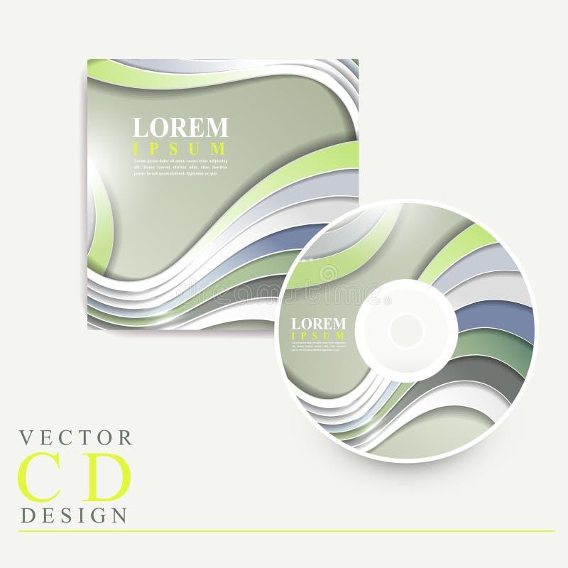 Modern technologisch ontwerp voor CD dekking royalty-vrije illustratie