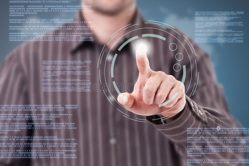 Download Modern technology stock illustration. Illustration of code - 24668922