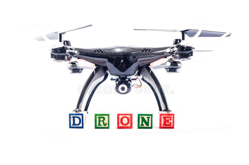 Modern Technology Copter closeup Aircraft Drone royalty free stock photo