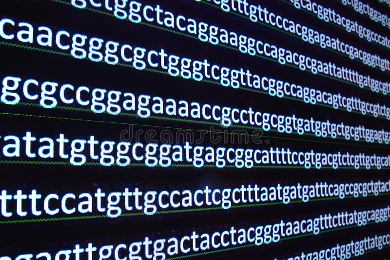Modern technology: DNA sequencing. royalty free stock photos