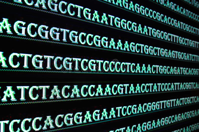 Modern technology: DNA sequencing. stock photography