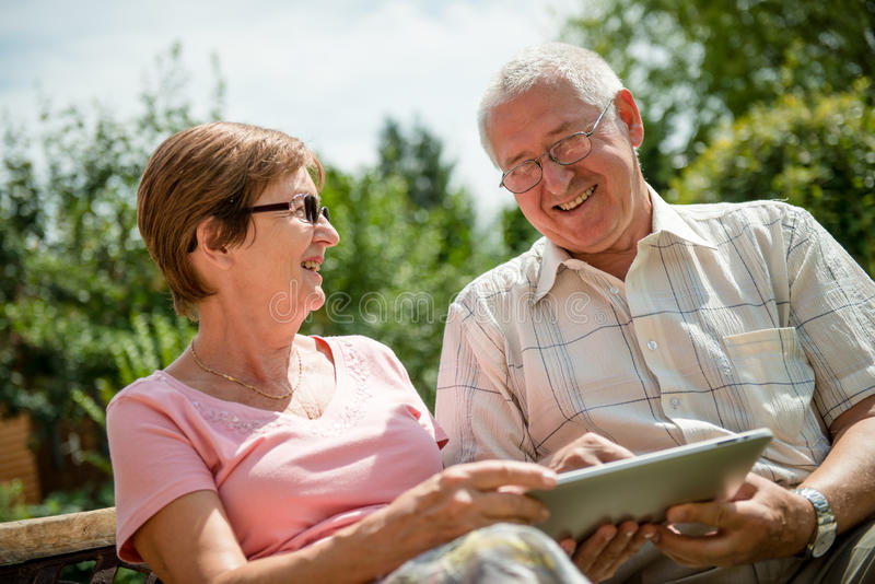 Modern Technology In Every Age Royalty Free Stock Photo