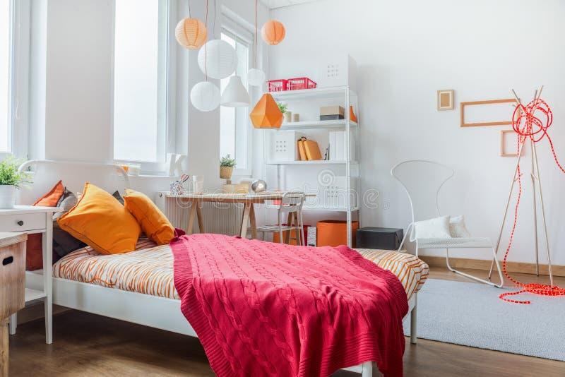 Modern teen room design stock photos