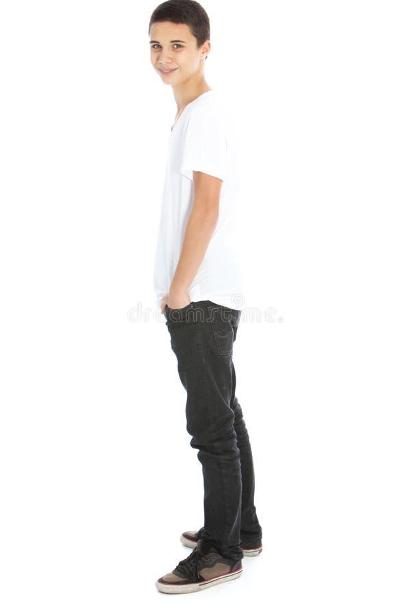 Modern teenage boy stock photo