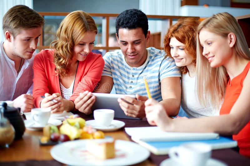 Modern teens royalty free stock images