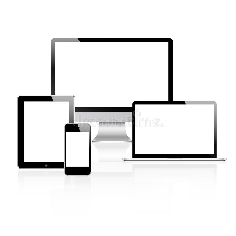 Modern technology devices set vector illustration