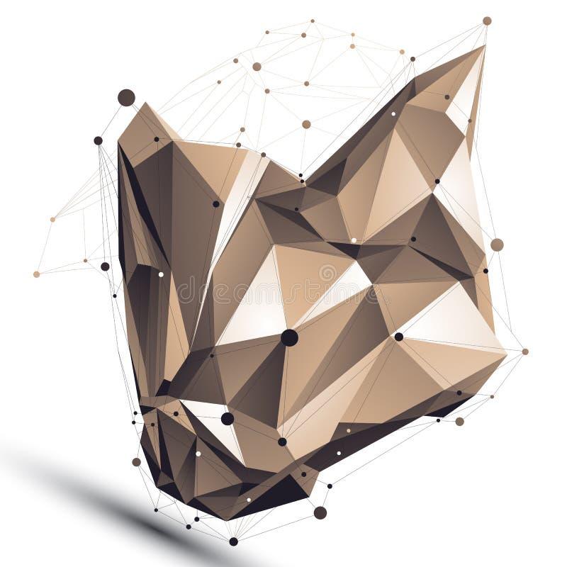 Modern teknisk assymetrisk stilfull konstruktion, abstrakt begrepp vektor illustrationer