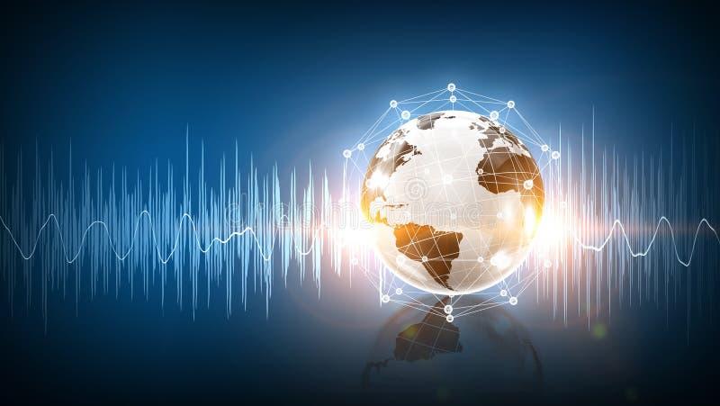 Modern teknologi av ljudet royaltyfri fotografi