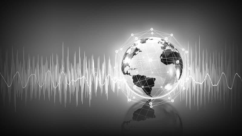 Modern teknologi av ljudet arkivfoton