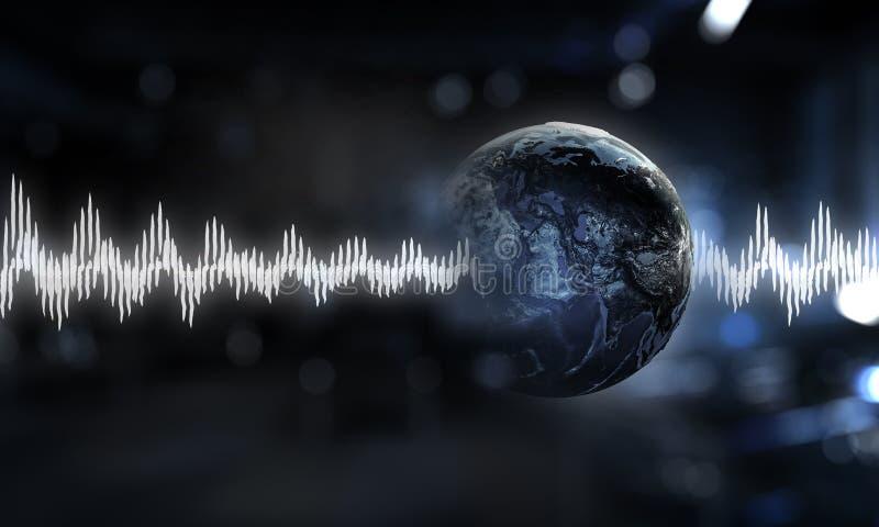 Modern teknologi av ljudet arkivfoto