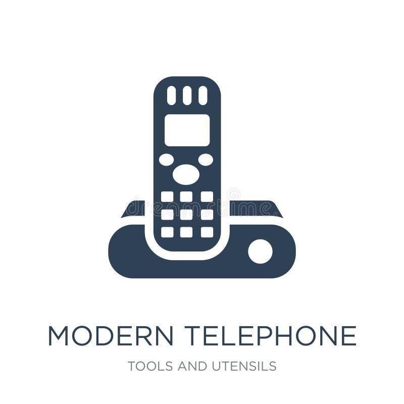 Modern telephone icon in trendy design style. modern telephone icon isolated on white background. modern telephone vector icon. Simple and modern flat symbol stock illustration
