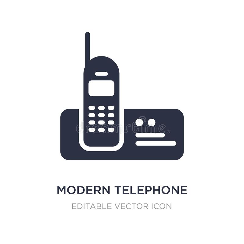 Modern telephone icon on white background. Simple element illustration from Tools and utensils concept. Modern telephone icon symbol design stock illustration