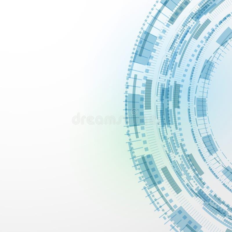 Modern templat för abstrakt begrepp för teknologiblåttbakgrund royaltyfri illustrationer