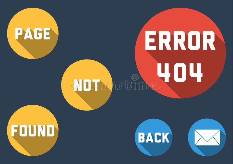 Modern template for Error 404 - Page not found with colorful bub royalty free stock photo
