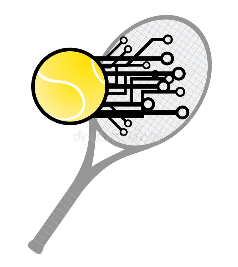 Download Modern tennis hit stock vector. Image of return, scorching - 23678308