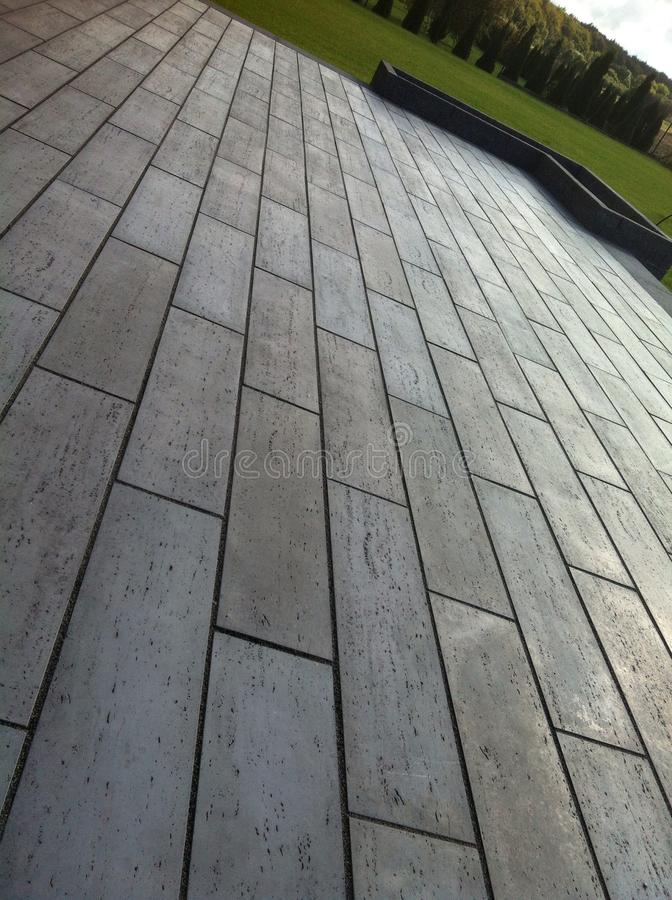 modern terrace of concrete tiles stock image image of