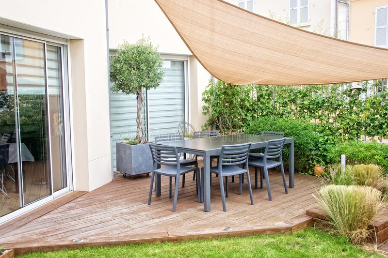 Modern terrace royalty free stock images
