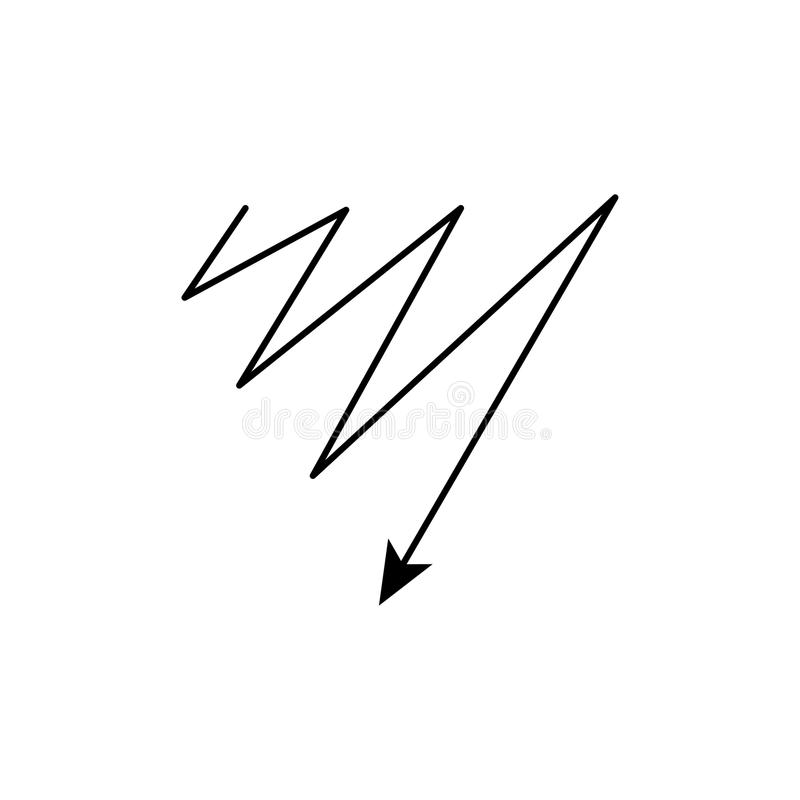 Modern thin line icon of flash. Premium quality outline symbol. Simple mono linear pictogram, drawing, art, sign. Stroke lo royalty free illustration