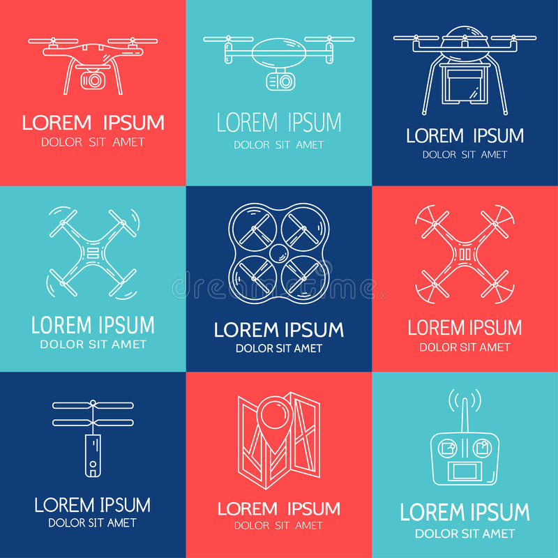 Set Of Logotypes For Video Bloggers Stock Vector