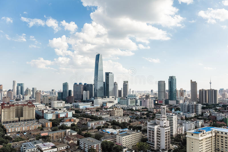 Modern tianjin cityscape stock photos