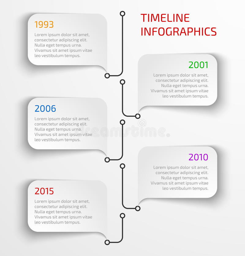 Modern timeline infographic royalty free illustration