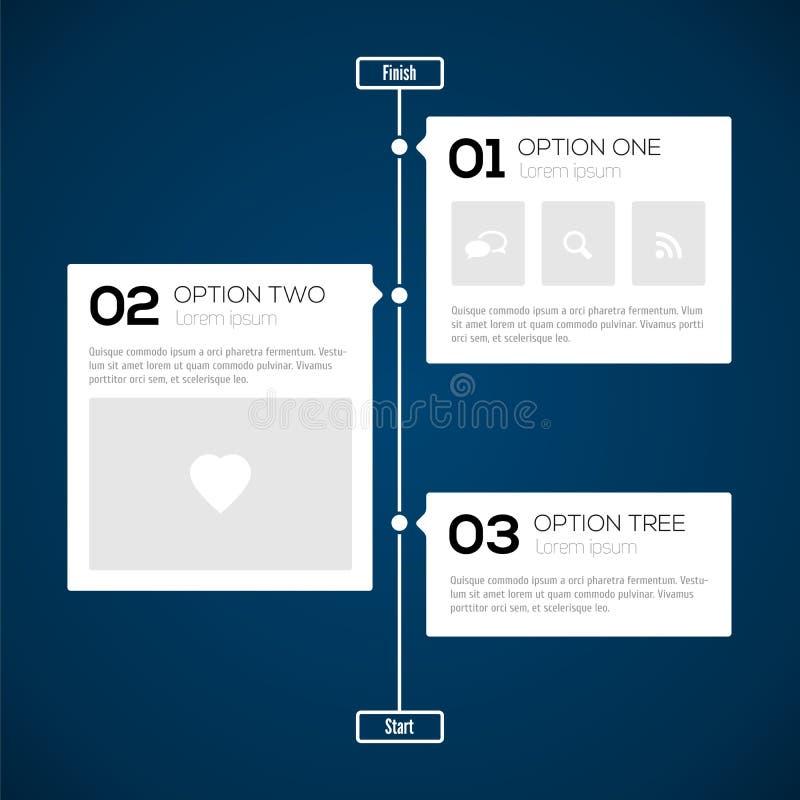 Modern timelinedesignmall vektor illustrationer