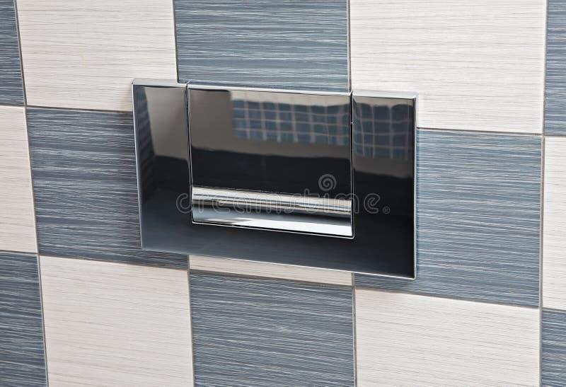modern toalett för spakmetall arkivbilder