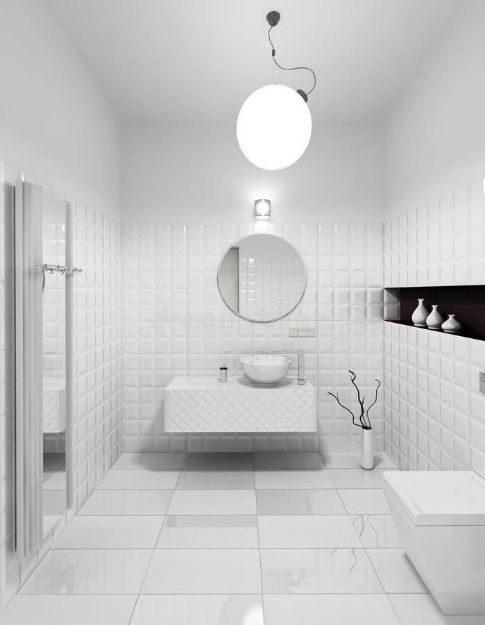 Modern toalettinre fotografering för bildbyråer