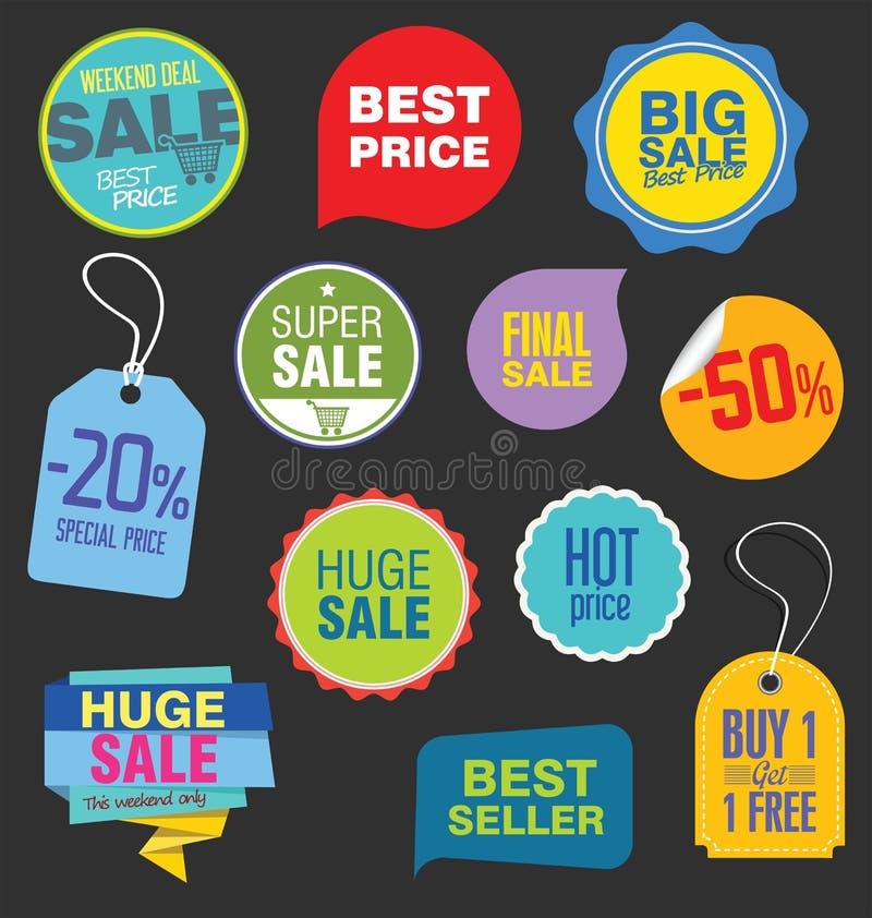 Modern toppen samling för försäljningslägenhetbaner vektor illustrationer