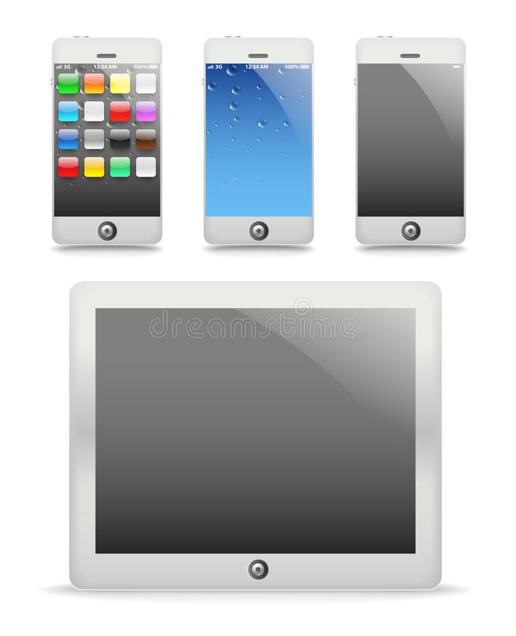 Download Modern touch gadgets stock vector. Image of multi, communicator - 22008659