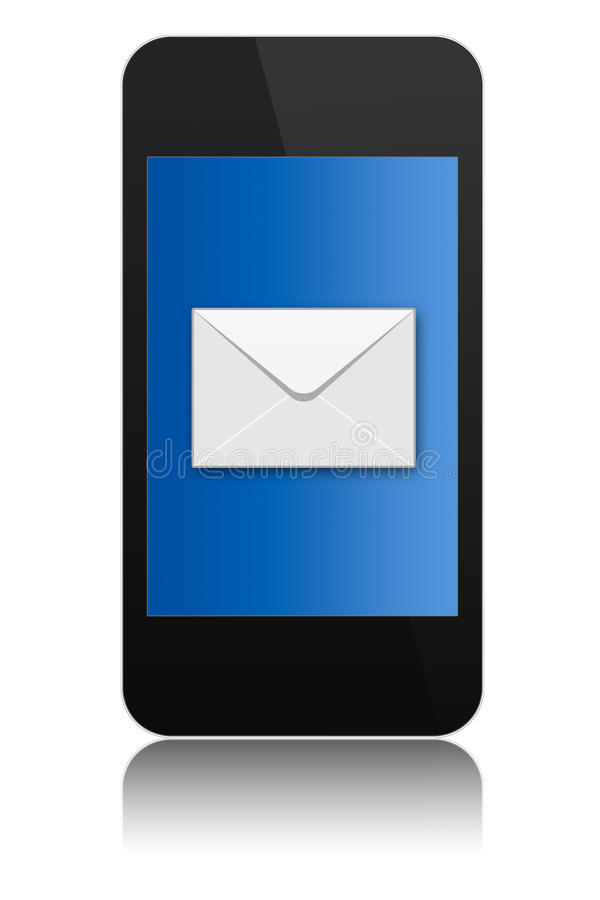 Download Modern Touchscreen Phone With Letter Symbol Stock Illustration - Image: 14673843