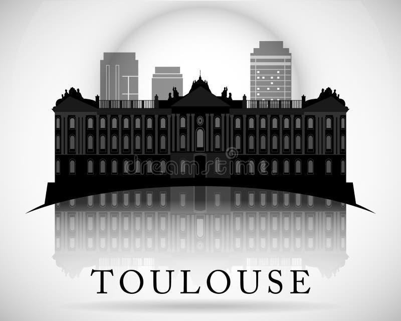 Modern Toulouse City Skyline Design. France. Modern Toulouse City Skyline Design royalty free illustration