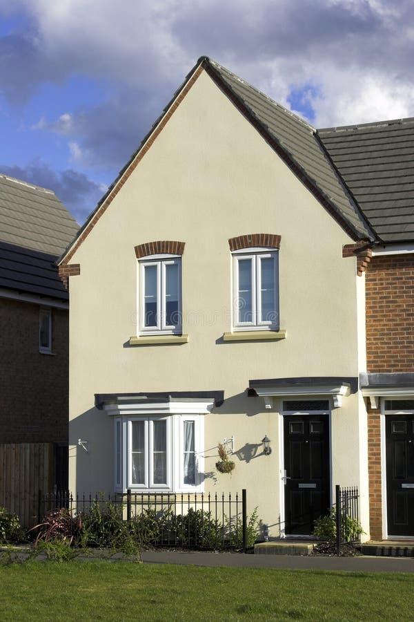 Modern Town House. A modern town house starter home stock image