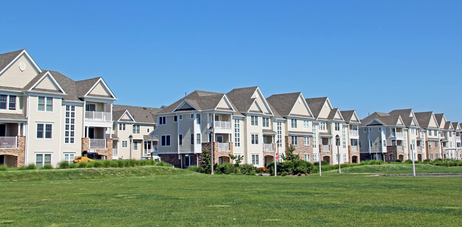 Modern Townhouses stock image