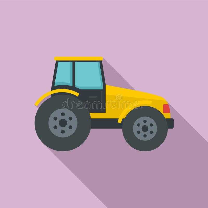 Modern tractor icon, flat style. Modern tractor icon. Flat illustration of modern tractor vector icon for web design stock illustration