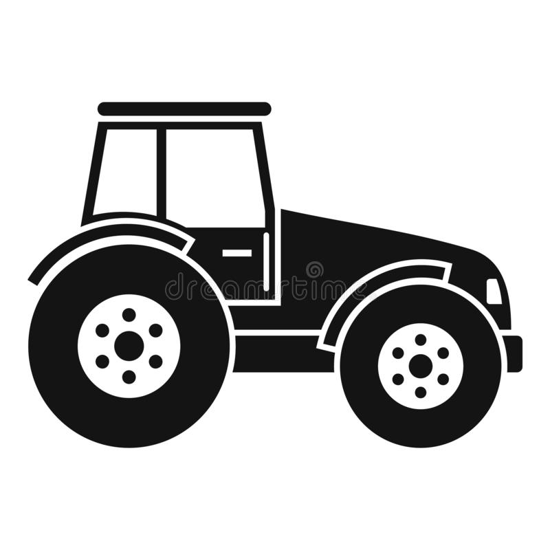 Modern tractor icon, simple style. Modern tractor icon. Simple illustration of modern tractor vector icon for web design isolated on white background royalty free illustration