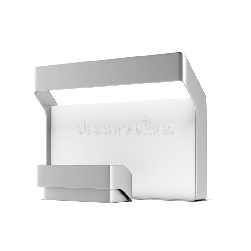Modern trade exhibition booth. Isolated on a white background stock illustration