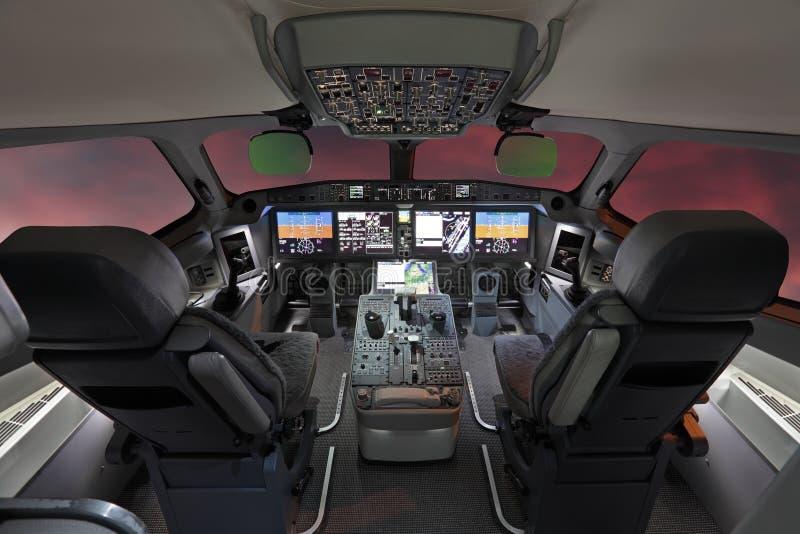 Modern trafikflygplan royaltyfria bilder