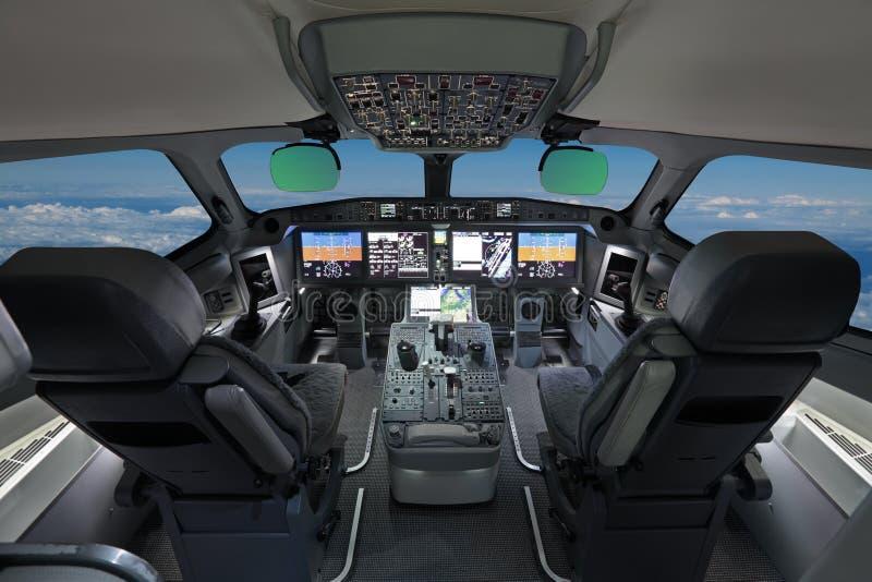 Modern trafikflygplan arkivbild