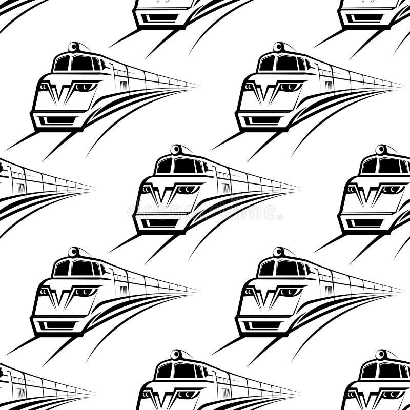 Modern Train Seamless Pattern Stock Vector